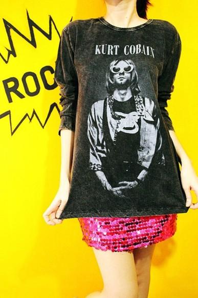lovely style sweater kurt cobain grunge sweater grunge cobain kurt cobain shirt