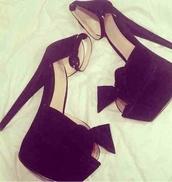 shoes,high heels,blackheels,cute high heels,heels,platform shoes,black,bows