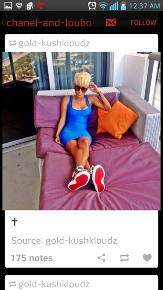 dress blue dress blue bodycon dress tank dress jainice jai nice shoes red bottoms sneakers