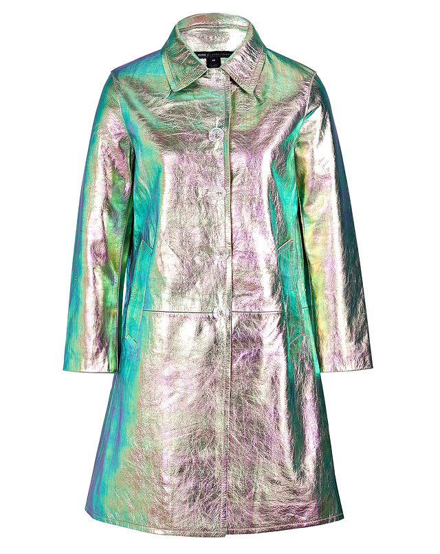 Metallic leather coat from marc by marc jacobs