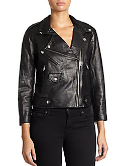 Wes Leather Moto Jacket - SaksOff5th