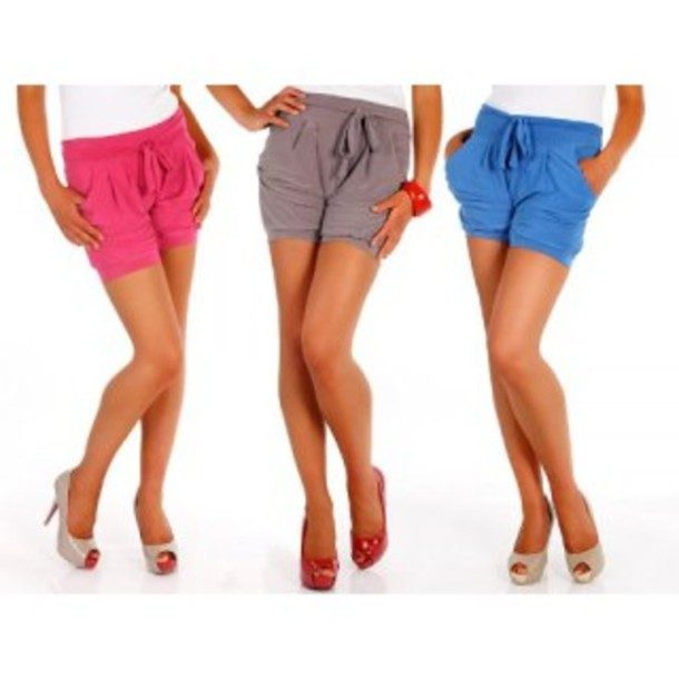 shorts colored shorts bow bow shorts pink summer colored