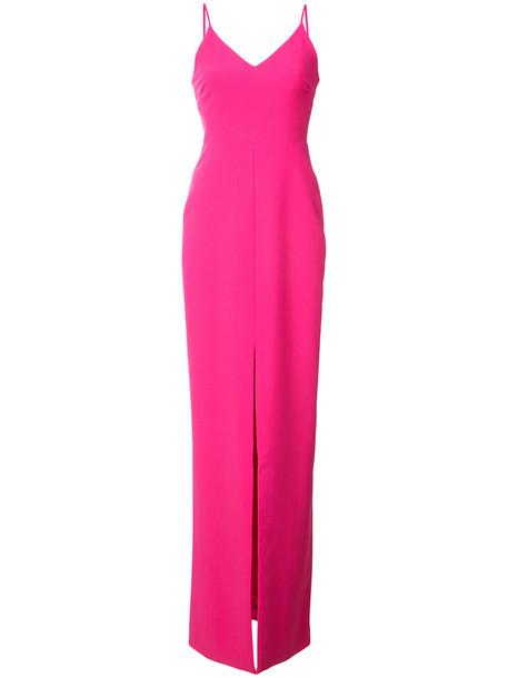 gown women slit spandex purple pink dress