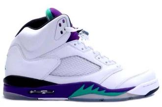 shoes jordans white purple green