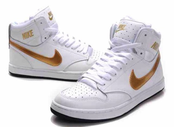 0224da341d6d shoes leggings nike running shoes nike high tops gold shoes white shoes gold  and white white