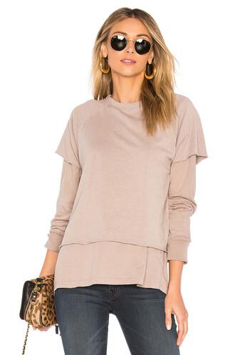 sweatshirt beige sweater