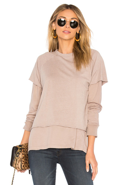 Monrow sweatshirt beige sweater