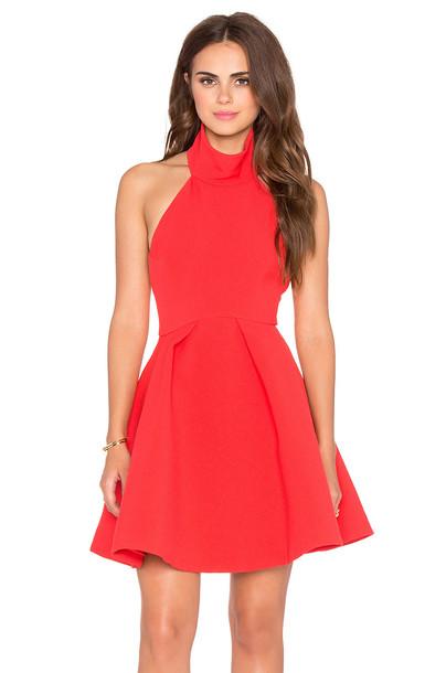 dress smoke red