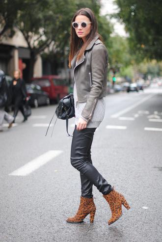 fashion vibe jacket shoes pants sweater sunglasses bag