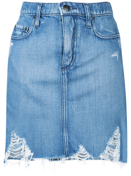 Nobody Denim skirt women cotton blue
