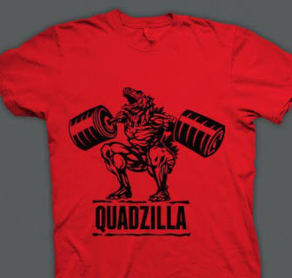 shirt red top t-shirt quadzilla