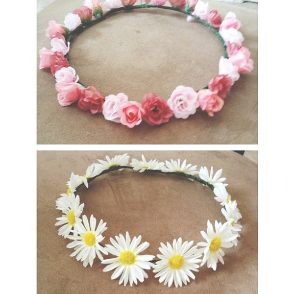 scarf flowers flower crown cute