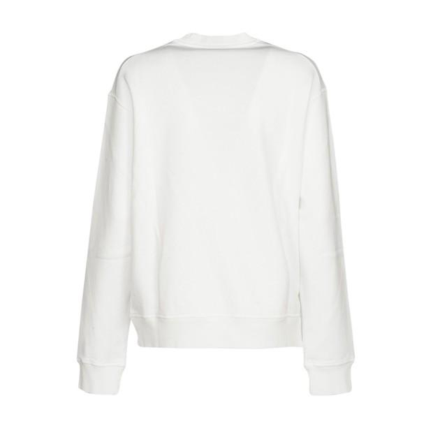 Dsquared2 sweatshirt cool nice print white pink sweater