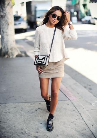 sincerely jules blogger sweater skirt bag