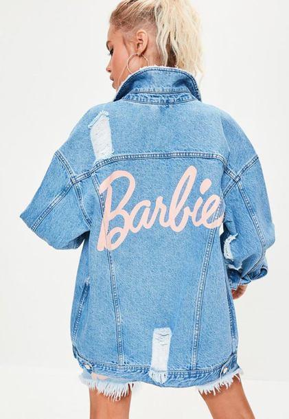 632af39d85 jacket missguided 36683 denim jacket oversized oversized jacket denim jean  jackets barbie ripped denim dress