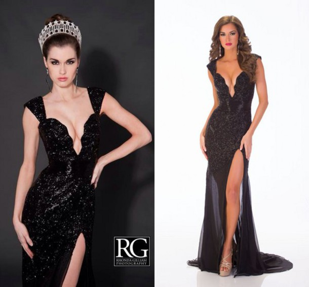 Black Sequin Dresses for Prom