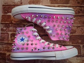 shoes converse galaxy converse studded converses high top converse