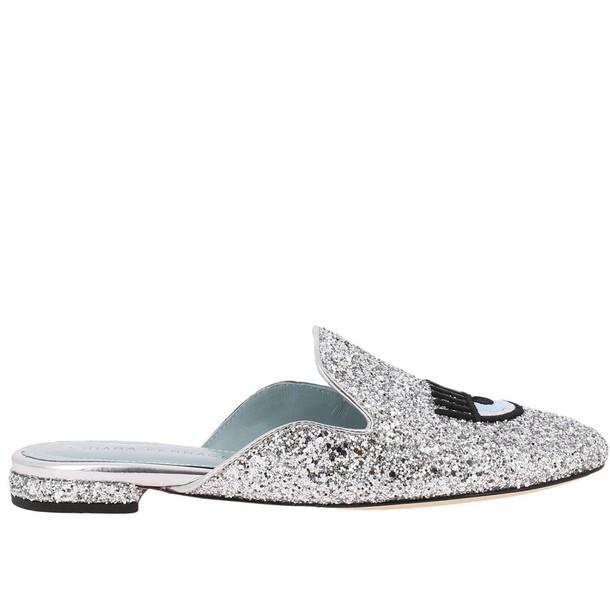 Chiara Ferragni ballet women flats shoes ballet flats silver