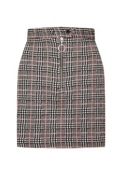 Topshop skirt mini skirt mini zip monochrome