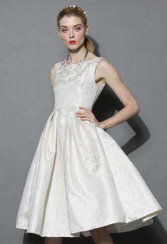 dress glamour night prom dress in ivory chicwish prom dress ivory dress summer dress white summer dress