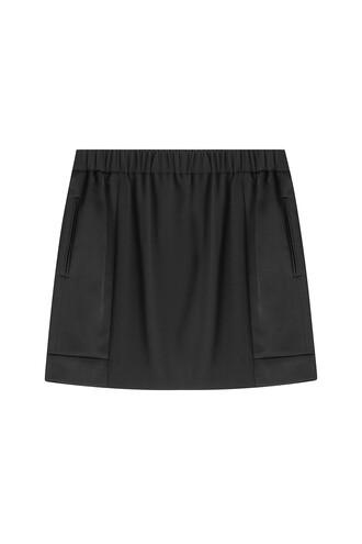 skirt mini satin black
