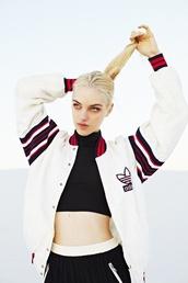 jacket,adidas,white,swag,girl,adidas jacket,red,black,bomber jacket,letterman,white jacket