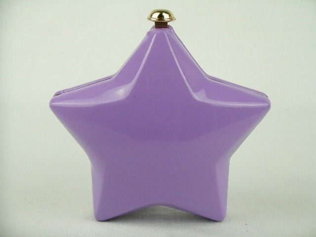 A6584 Fluorescent Purple Star Evening Purse Clutch BAG Case BOX IN Free Shipment | eBay