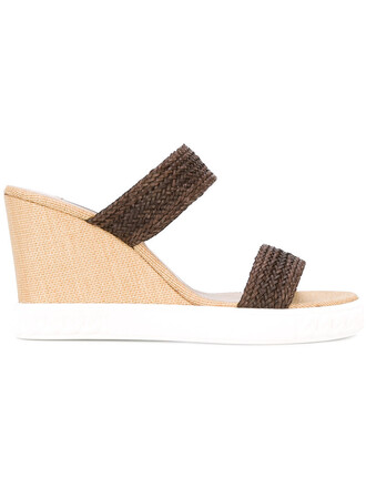 women braided sandals wedge sandals leather brown shoes