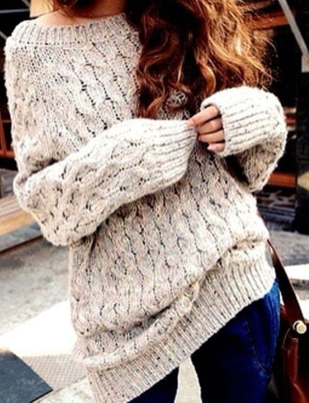 oversized chunky sweater sweater blouse