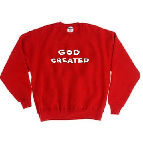 God created red color Unisex Sweatshirts