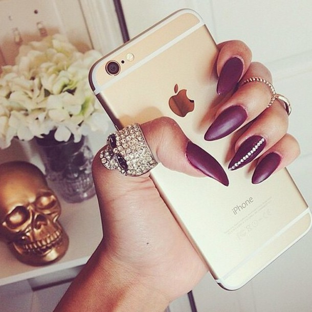 nail polish, nail art, iphone case, gold - Wheretoget