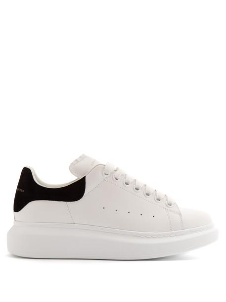 Alexander Mcqueen top leather white black