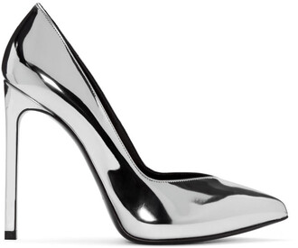 paris heels silver shoes