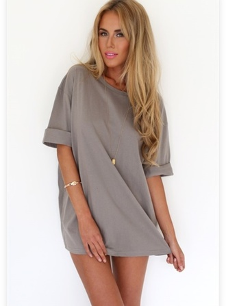 blouse grey oversized top tank top