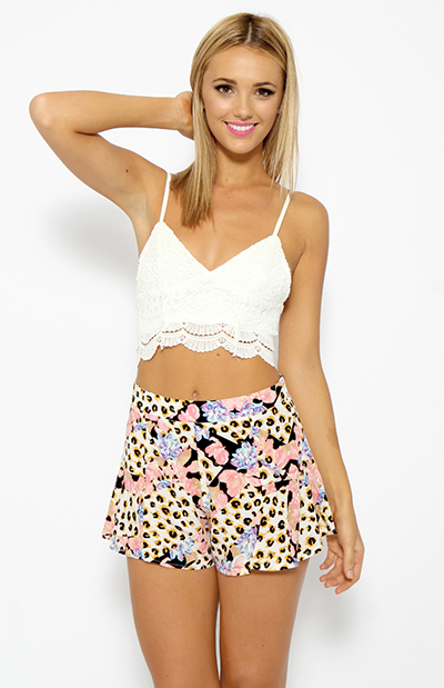 Sweet Heart Crochet Crop - White | Back In Stock | Clothes | Peppermayo