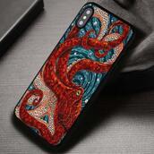 top,octopus,mosaic,art,iphone case,phone cover,iphone x case,iphone 8 case,iphone7case,iphone7,iphone 6 case,iphone6,iphone 5 case,iphone 4 case,iphone4case