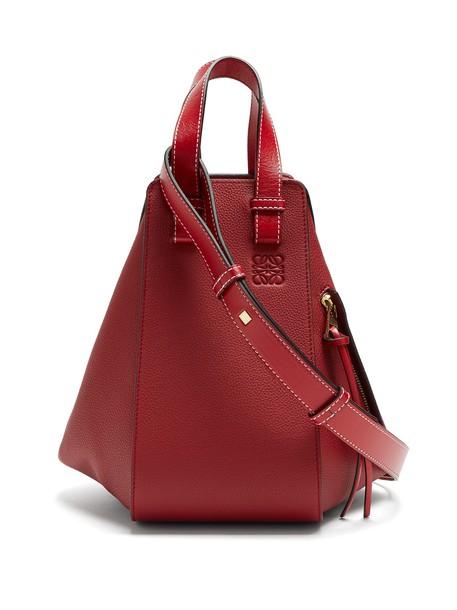 LOEWE leather dark dark red red bag