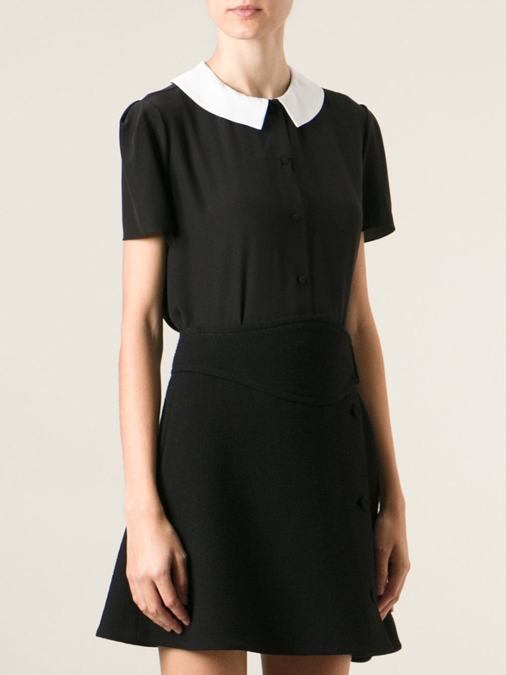 Saint laurent claudine collar blouse