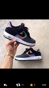 shoes,grey,colorful,nike air force 1,sneakers,nike,black,rainbow,dope,dope shit,nike sneakers,nike running shoes,nike air,air max,black shoes,ombre,nike shoes,cute