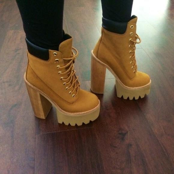 shoes boots jeffrey campbell karmaloop nubuck wheat timberlands