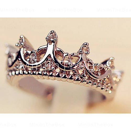 Fashion crown dames transparant rhinestone verklaring ringen () (1 pc)