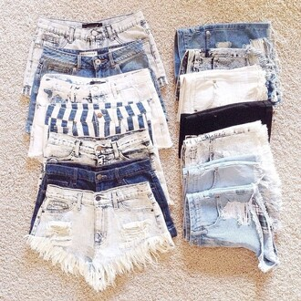 shorts denim shorts striped pants ripped shorts short shorts denim high waisted denim shorts acid wash shudder shorts style jeans