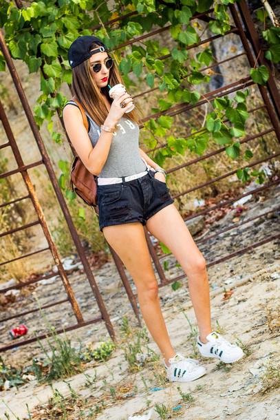 shoes and basics blogger shorts shoes