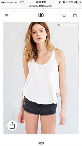 tank top white urban outfitters