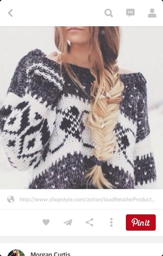 sweater grey and white