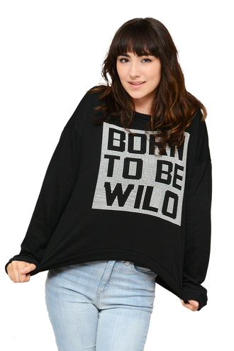born to be wild wild born be chic simplychic black sweater fall outfits sweater sweater weather