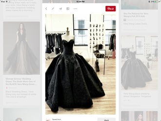 dress vera wang black dress wedding dress
