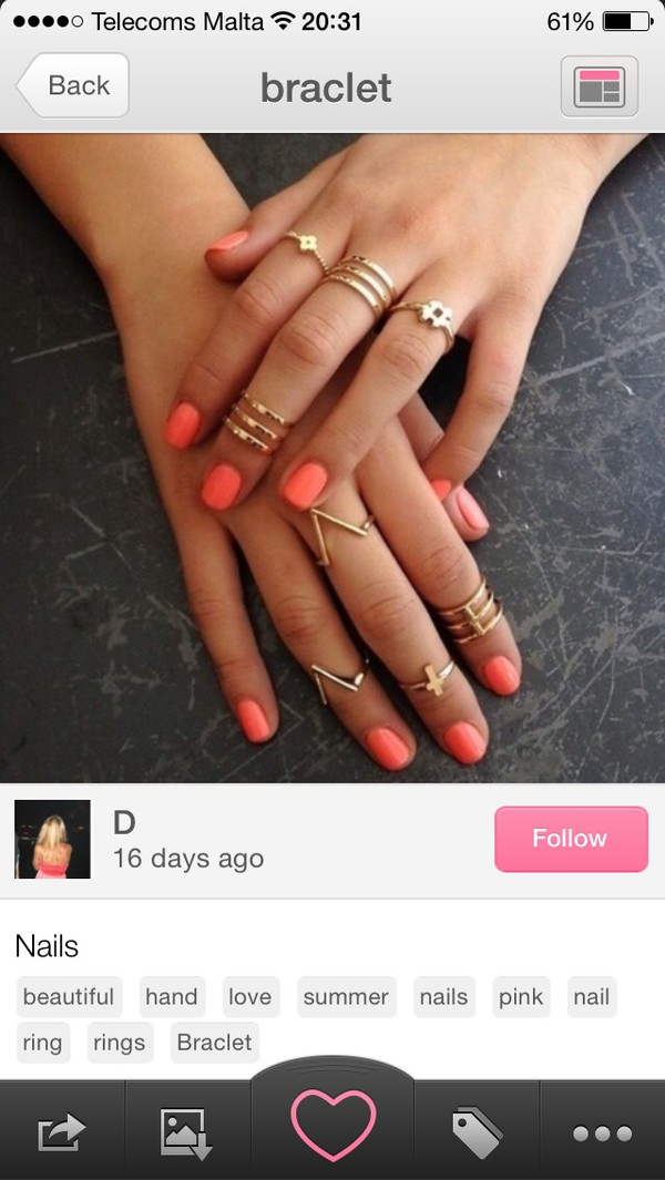 jewels ring bracelets nail polish