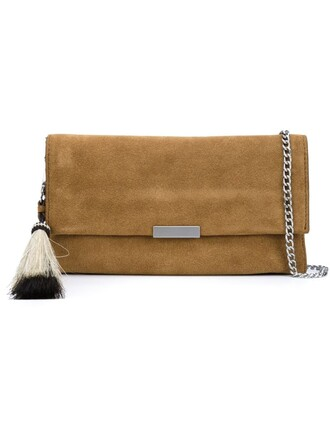 tassel clutch nude bag