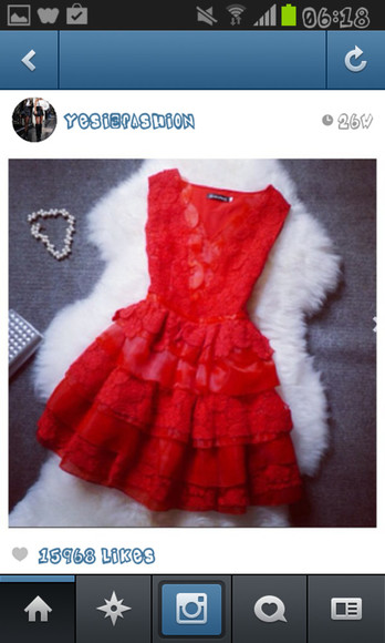 red dress lace little red dress red lace layered skirt beautiful short